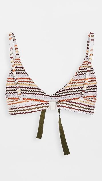 Silvia Tcherassi Fern Bikini Top
