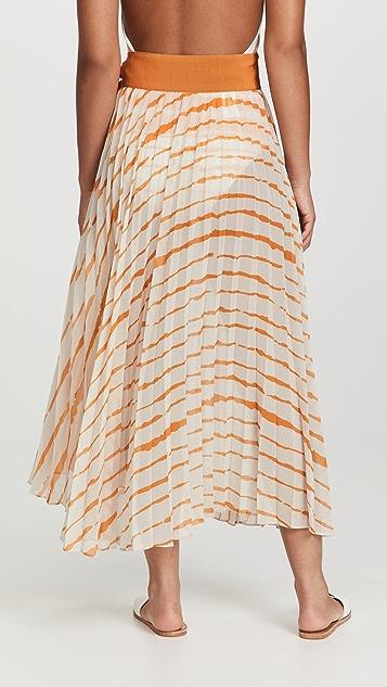 Silvia Tcherassi Blanche Pareo Skirt