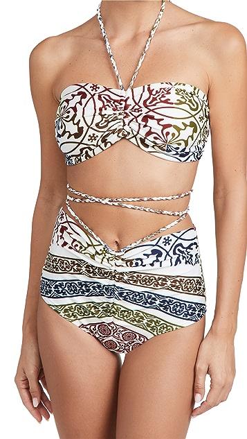 Silvia Tcherassi Giarre Bikini Top