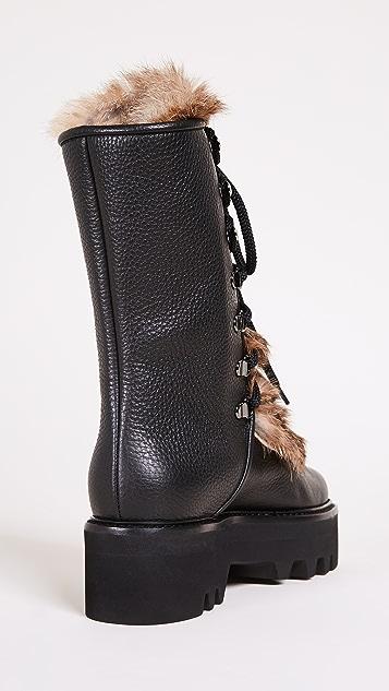 Steiger Tall Fur Combat Boots