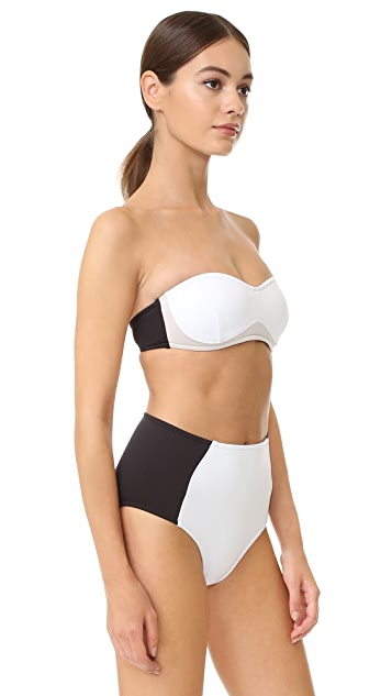 Stella McCartney Stella Iconic Colorblock Bandeau Bikini Top
