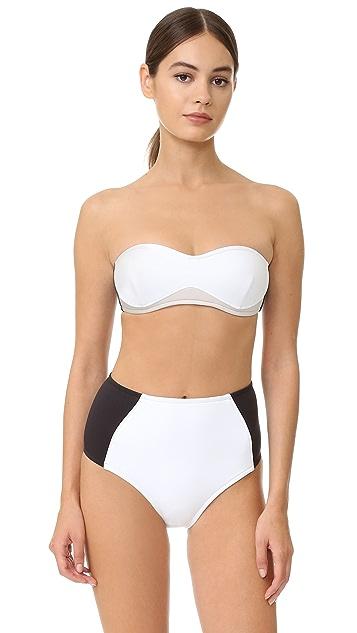 Stella McCartney Stella Iconic Colorblock High Waist Bikini Bottoms