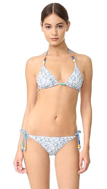 Stella McCartney Iconic Prints Triangle Bikini Top