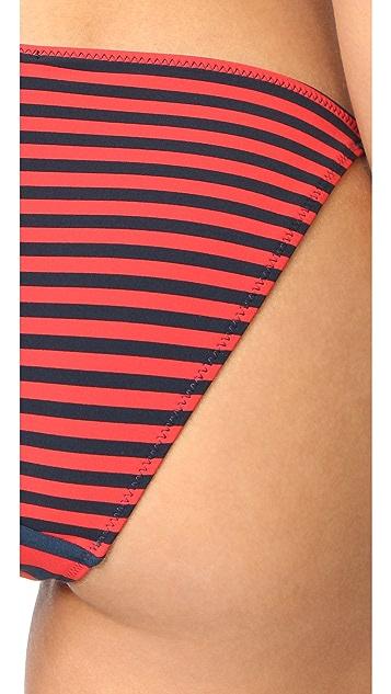 Stella McCartney Stripe Tie Side Bikini Bottoms