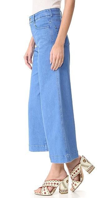 Stella McCartney Flared Cropped Jeans
