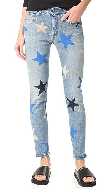 1f13c0d6867e0 Stella McCartney Skinny Boyfriend Star Print Jeans