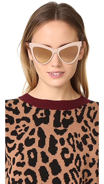 Stella McCartney Extreme Cat Eye Sunglasses