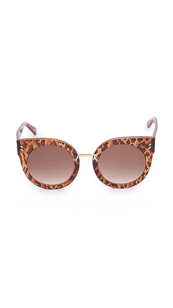 Stella McCartney Round Cat Eye Sunglasses