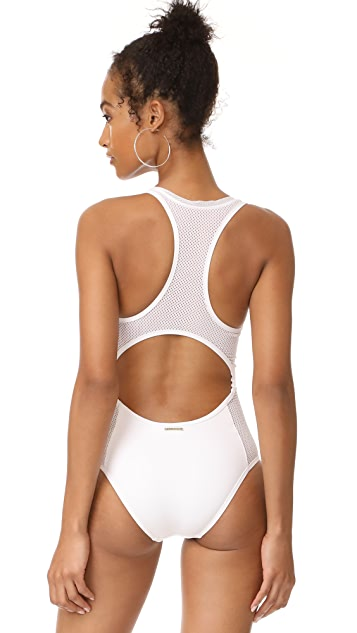 Stella McCartney Mesh Trimmed One Piece