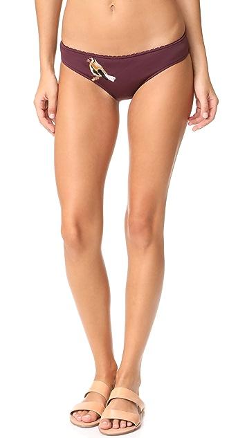 Stella McCartney Embroidery Classic Bikini Bottoms