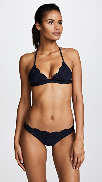 Stella McCartney Eyelet Triangle Bikini Top