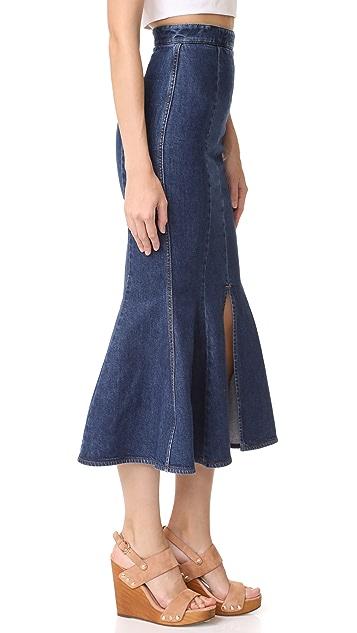 Stella McCartney Flared Denim Skirt