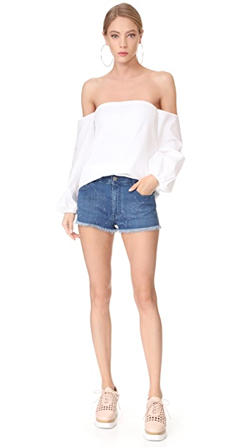 Stella McCartney Fringed Cutoff Shorts