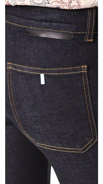 Stella McCartney Skinny Kick Patch Stretch Jeans
