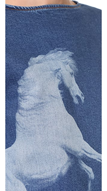Stella McCartney Denim Horse Top