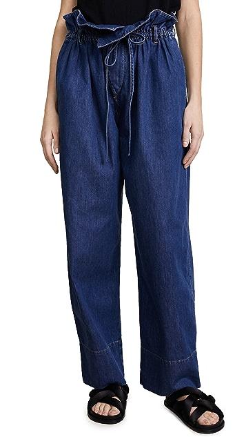 Stella McCartney Olive Paper Bag Waist Jeans