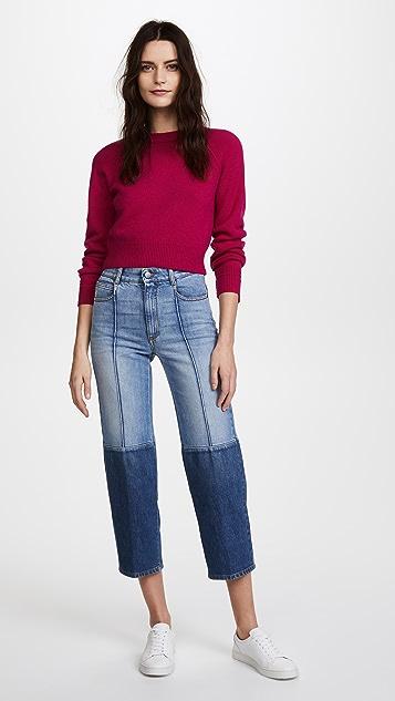 Stella McCartney The High Waist Two Tone Jeans