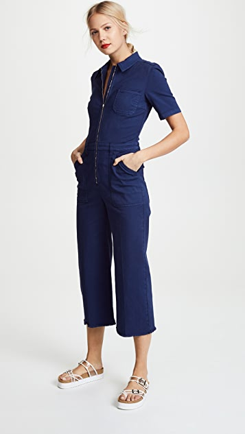 Stella McCartney Morgan Denim Cropped Jumpsuit