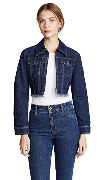 Stella McCartney Paola Cropped Denim Jacket