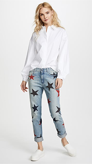 Stella McCartney The Skinny Boyfriend Jeans with Stars