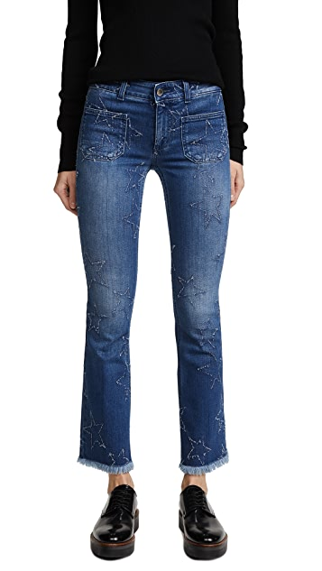 Stella McCartney The Skinny Kick Patch Jeans