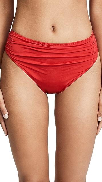 Stella McCartney Ballet Draped High Waist Bikini Bottoms