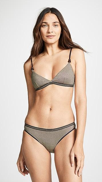Stella McCartney Lame Triangle Bikini Top