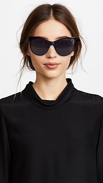 Stella McCartney Classic Cat Eye Sunglasses with a Masked Lens