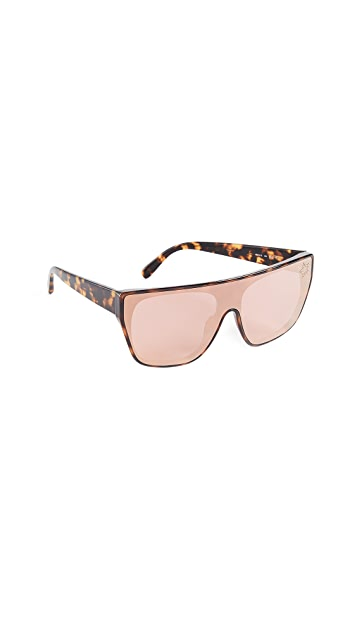 Stella McCartney Rectangular Sunglasses with a Masked Lens