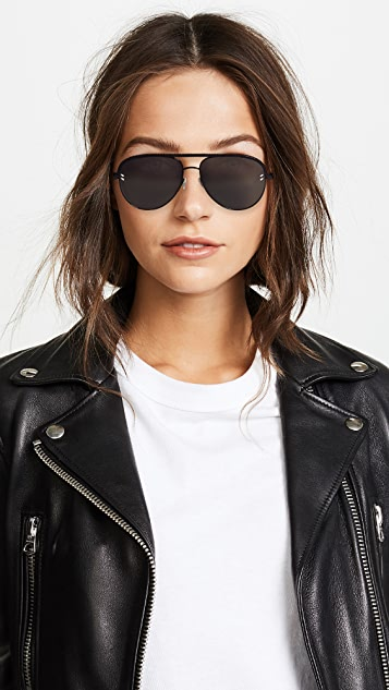Stella McCartney Double Bridge Pilot Sunglasses