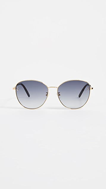 Stella McCartney Metal Round Sunglasses
