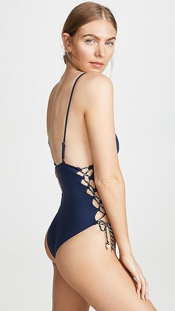 Stella McCartney Сплошной купальник со шнуровкой