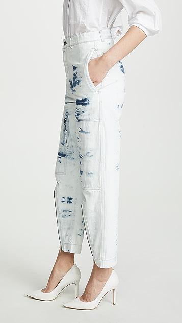 Stella McCartney Джинсы в технике узелкового батика с разрезом спереди