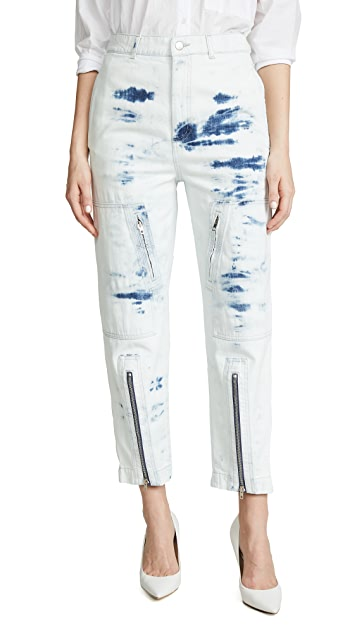 Stella McCartney Slit Front Tie-Dye Jeans