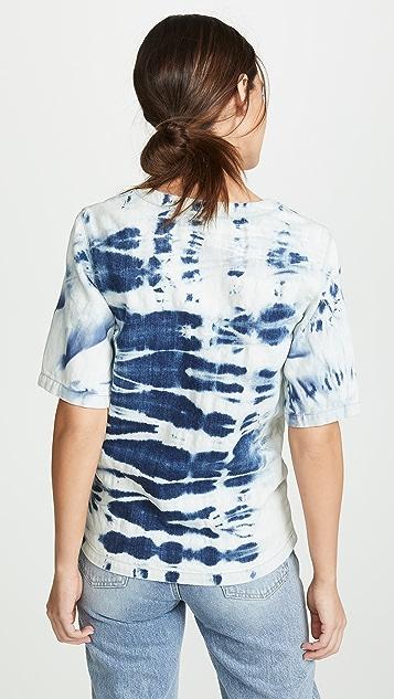 Stella McCartney Tie Dye V Neck Shirt