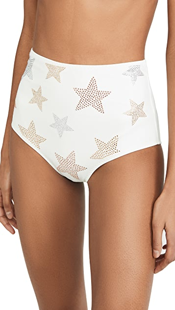 Stella McCartney Studded Stars High Waist Bikini Bottom