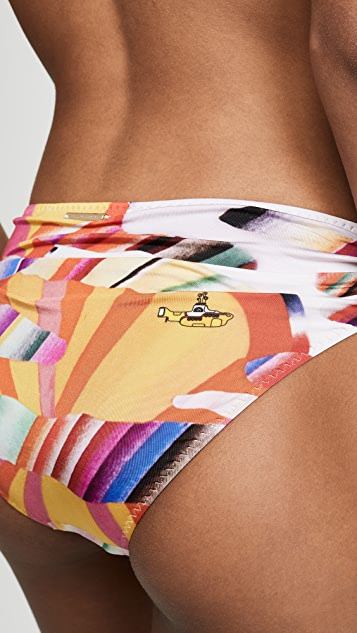 Stella McCartney Классические плавки бикини с драпировкой