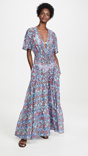 Stella Mccartney Beachwear Pansy Print Long Dress