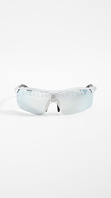 Stella McCartney Fashion Show Sporty Shield Sunglasses