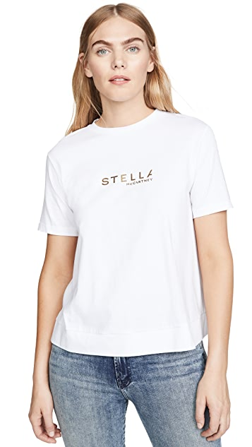 Stella McCartney Gold Logo Jersey Tee