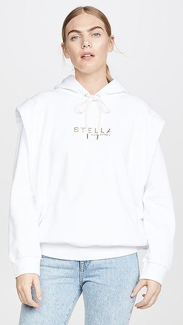 Stella McCartney Толстовка с золотистым логотипом