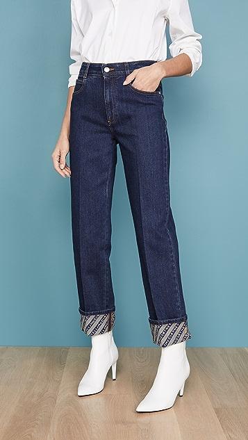 Stella Mccartney Jeans Denim  Eco Dark Org. Logo Print Jeans