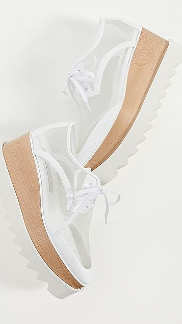 Stella McCartney Elyse 透明系带鞋
