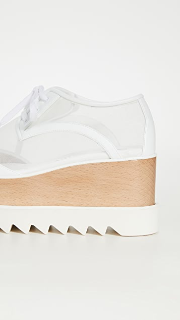 Stella McCartney Elyse Transparent Lace Up Shoes