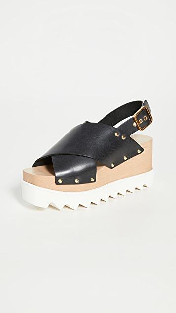 Stella McCartney Percy 交叠凉鞋