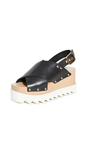 Stella McCartney Percy Crisscross Chunky Sandals