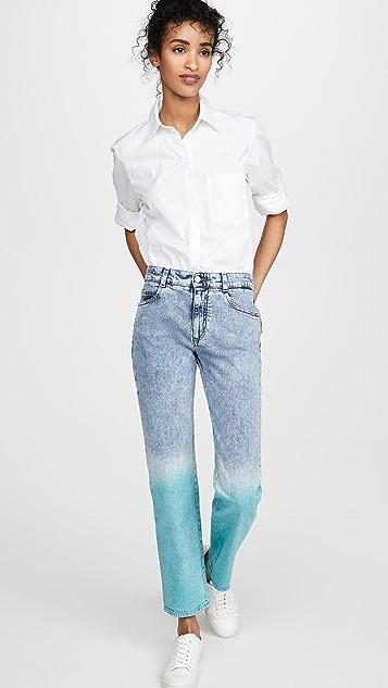 Stella McCartney 中腰男友风格复古石洗牛仔裤