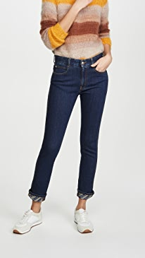 Skinny Boyfriend Eco Dark Logo Jeans