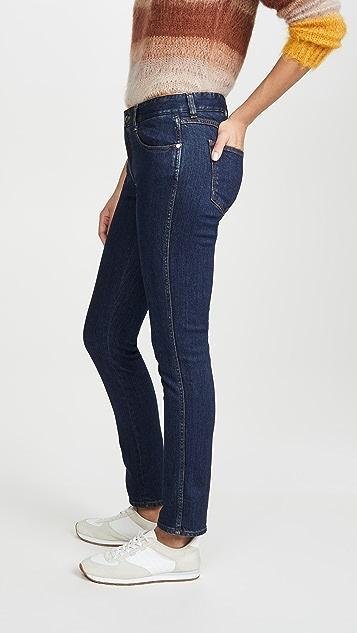Stella McCartney 紧身男友风格环保深色徽标牛仔裤