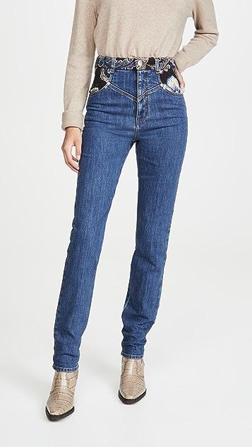 Stella McCartney 复古石蓝色提花织物长裤